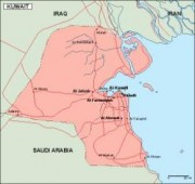 kuwait_geography vector map