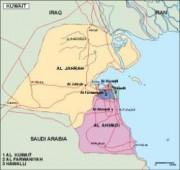 kuwait_political vector map
