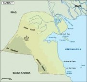 kuwait_topographical vector map