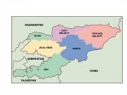 kyrgyzstan powerpoint map