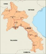 laos_countrymap vector map
