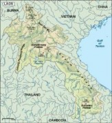 laos_topographical vector map
