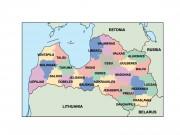 latvia powerpoint map