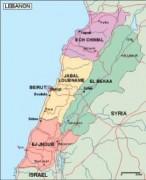 lebanon_political vector map
