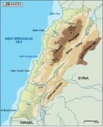 lebanon_topographical vector map
