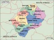 lesotho_political vector map