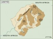 lesotho_topographical vector map