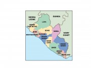 liberia powerpoint map