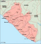 liberia_geography vector map