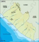 liberia_topographical vector map