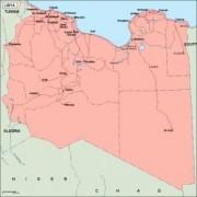 libya  vector map