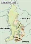 liechtenstein_topographical vector map