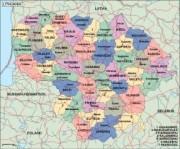 lithuania_political vector map