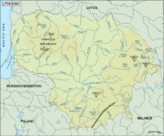 lithuania_topographical vector map