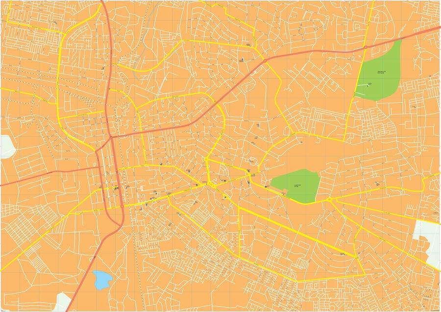 lusaka map