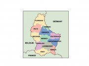 luxembourg powerpoint map
