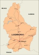 luxembourg_countrymap vector map