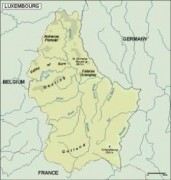 luxembourg_topographical vector map
