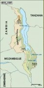 malawi_topographical vector map
