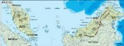 malaysia_topographical vector map