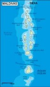 maldives_topographical vector map
