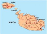 malta_countrymap vector map