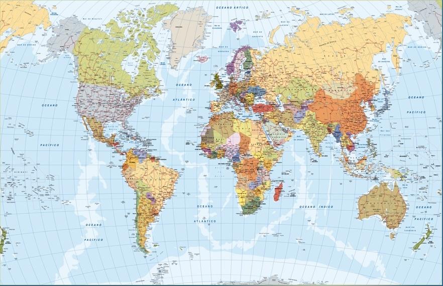 Mapa Mundi Portugues