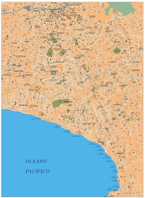 mapa vector lima