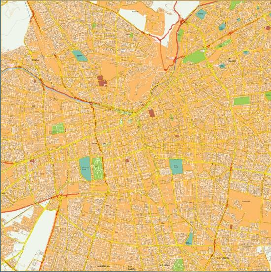 mapa santiago chile