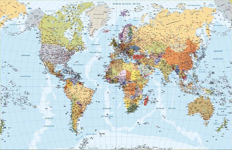 Worksheet. Download World Map updated Vector illustrator file Spanish as