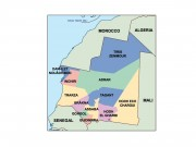 mauritania powerpoint map