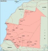 mauritania_geography vector map