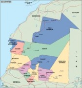 mauritania_political vector map