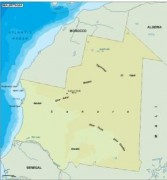 mauritania_topographical vector map