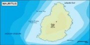 mauritius_topographical vector map