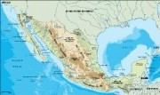 mexico_topographical vector map