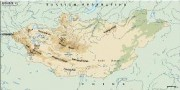 mongolia_topographical vector map