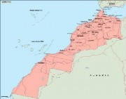 morocco_geography vector map