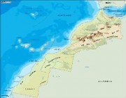 morocco_topographical vector map