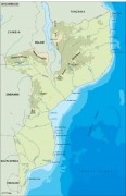 mozambique_topographical vector map