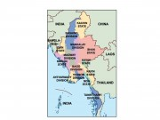 myanmar powerpoint map