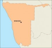 namibia_blankmap vector map