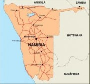 namibia_countrymap vector map