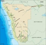 namibia_topographical vector map