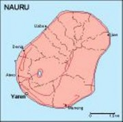 nauru_geography vector map