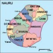 nauru_political vector map