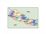 nepal powerpoint map