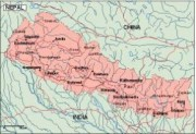 nepal_geography vector map