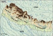 nepal_topographical vector map