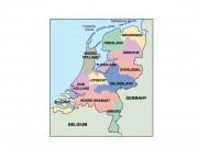 netherlands powerpoint map
